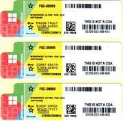 Windows 10 Professional/Pro OEM 64 RUS FQC-08909 лицензионная наклейка